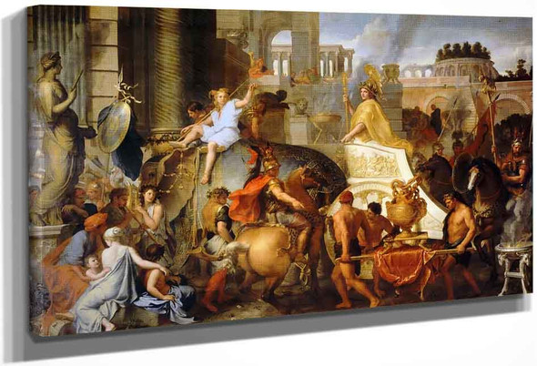 Life Of Alexander The Great 3 Entry Of Alexander Into Babylon By Charles Le Brun