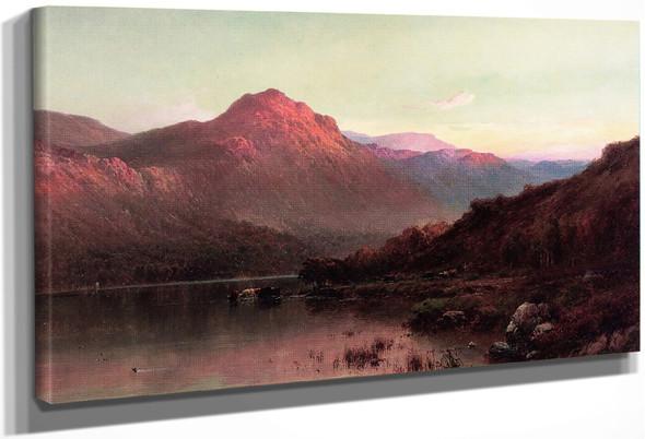Loch Katrine At Sunset By Alfred De Breanski, Sr.