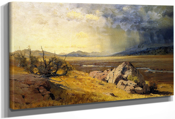 Looking Across South Park By Charles Partridge Adams By Charles Partridge Adams