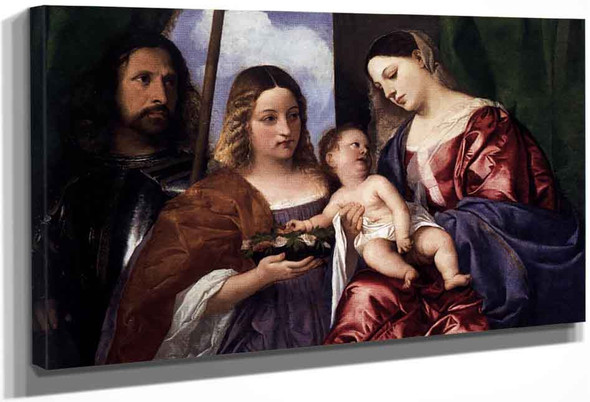 Madonna And Child With Sts Dorothy And George By Titian