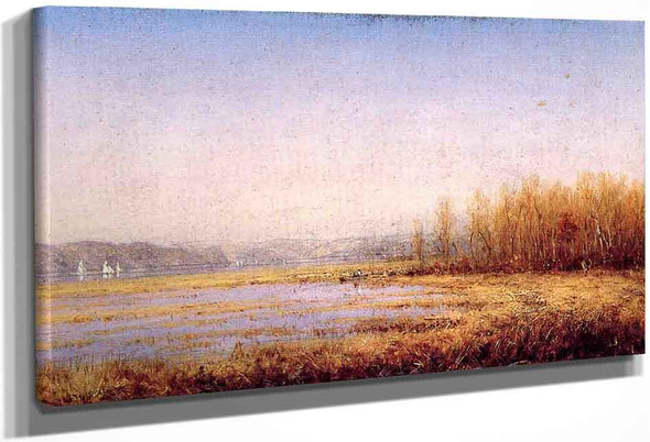 Marshes Of The Hudson By Sanford Robinson Gifford