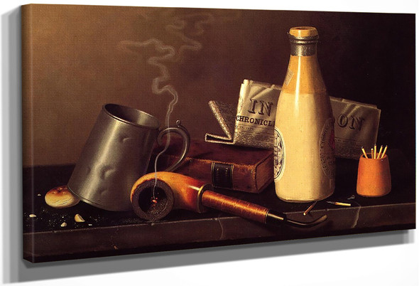 Materials For A Leisure Hour By William Michael Harnett By William Michael Harnett