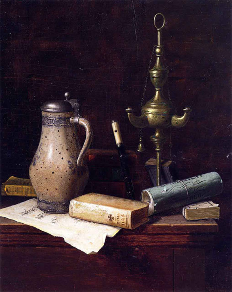 A Bachelor's Friends By William Michael Harnett  By William Michael Harnett