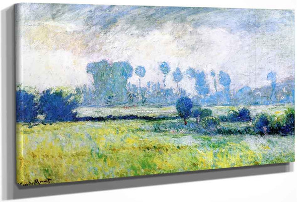 Meadow At Giverny, Morning Effect By Claude Oscar Monet