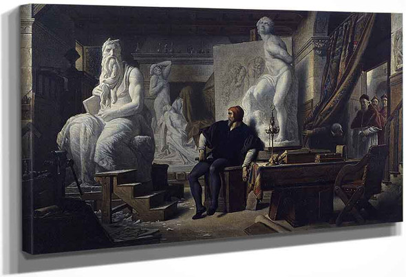 Michelangelo Visited In His Studio By Pope Julius Ii By Alexandre Cabanel