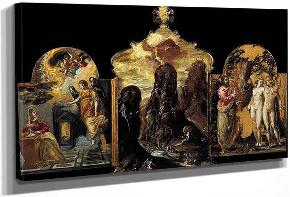 Modena Triptych Back Panels By El Greco By El Greco