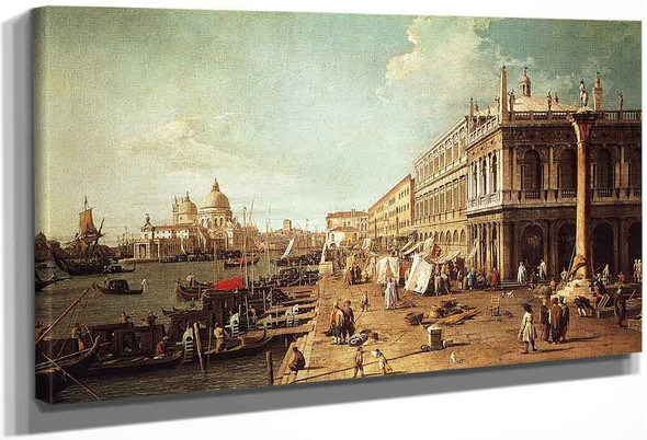 Molo With The Library By Canaletto By Canaletto
