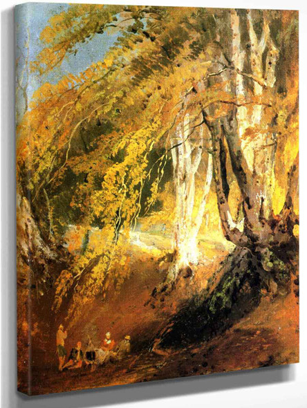 A Beech Wood With Gipsies Round A Camp Fire By Joseph Mallord William Turner