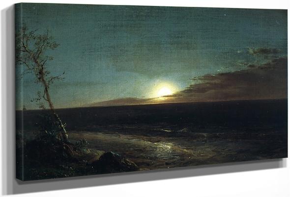 Moonrise By Frederic Edwin Church By Frederic Edwin Church