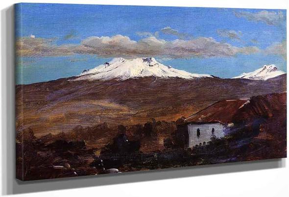 Mount Chimborazo, Ecuador, Shown From Riiobamba By Frederic Edwin Church By Frederic Edwin Church
