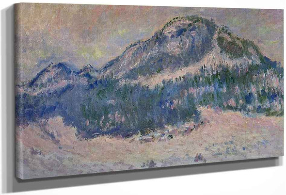 Mount Kolsaas, Rose Reflection By Claude Oscar Monet