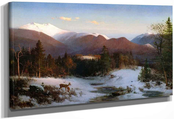 Mount Lafayette In Winter By Thomas Hill By Thomas Hill