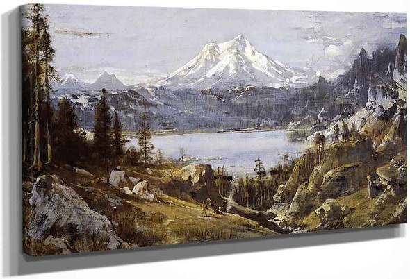 Mount Shasta From Castle Lake By Thomas Hill By Thomas Hill