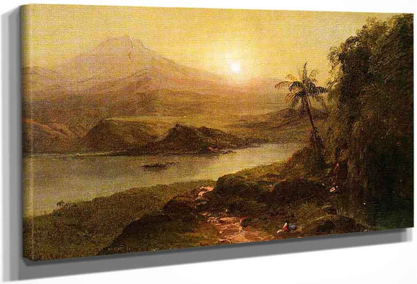 Mountain Landscape With River, Near Philadelphia By Frederic Edwin Church By Frederic Edwin Church