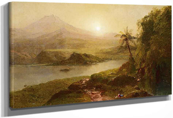 Mountain Landscape By Frederic Edwin Church By Frederic Edwin Church