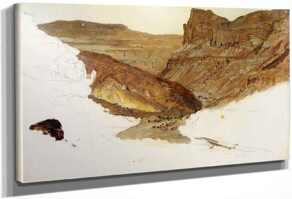 Mountain Stream, Yemen Valley, Palestine By Frederic Edwin Church By Frederic Edwin Church