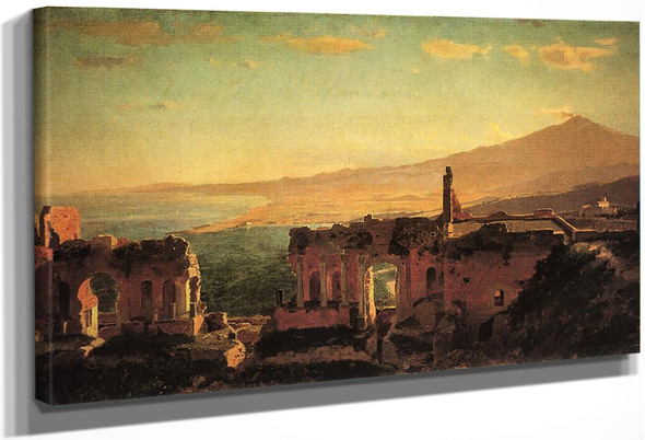 Mt. Aetna From Taormina By William Stanley Haseltine