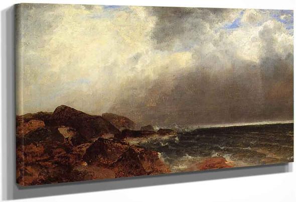 Narragansett Coast By John Frederick Kensett By John Frederick Kensett