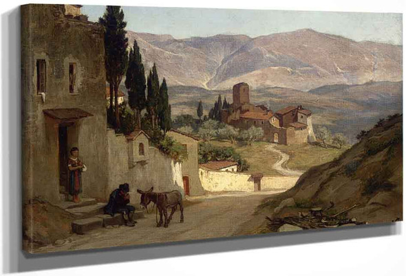 Near Perugia By Elihu Vedder