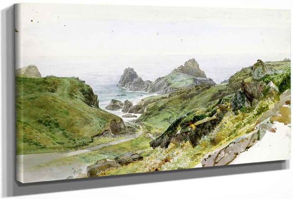 Newport Cove By William Trost Richards By William Trost Richards