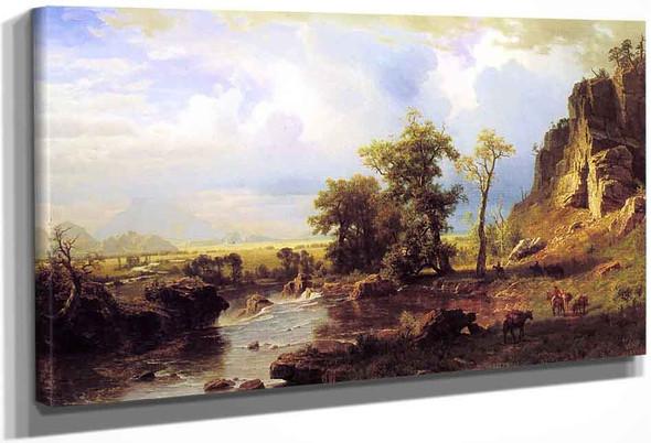 North Fort Of The Platte River, Nebraska By Albert Bierstadt