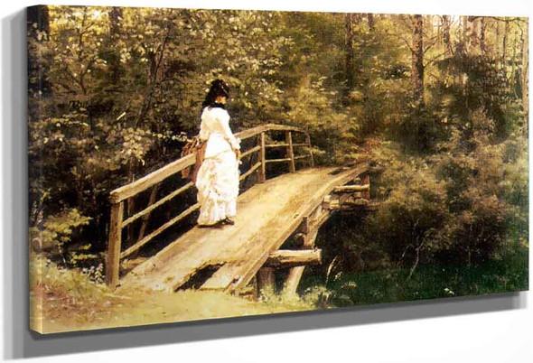 On A Bridge In Abramtsevo. By Ilia Efimovich Repin
