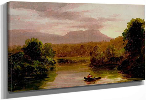 On Catskill Creek, Sunset By Thomas Cole By Thomas Cole