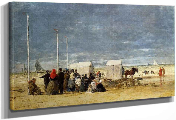 On The Beach 3 By Eugene Louis Boudin