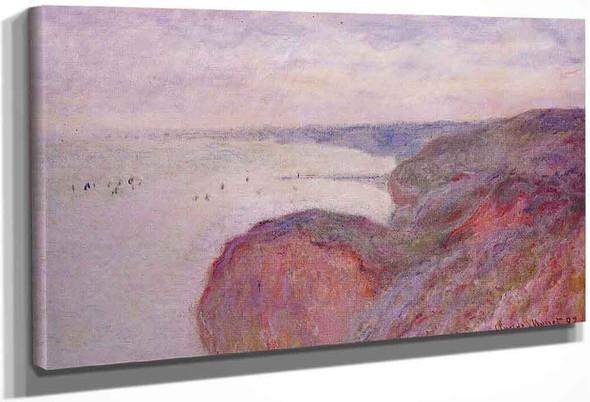 On The Cliff Near Dieppe, Overcast Skies By Claude Oscar Monet