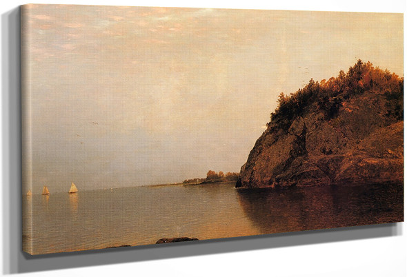 On The Connecticut Shore By John Frederick Kensett By John Frederick Kensett