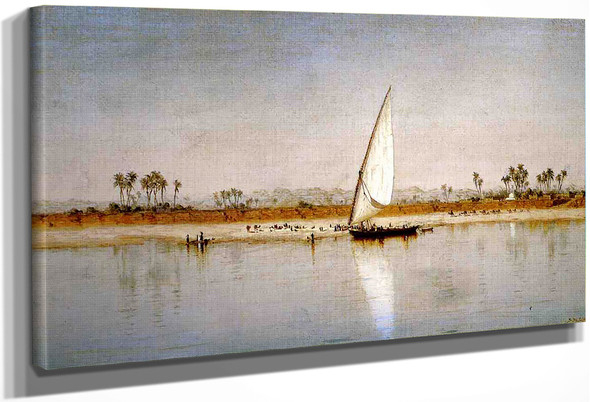 On The Nile By Sanford Robinson Gifford