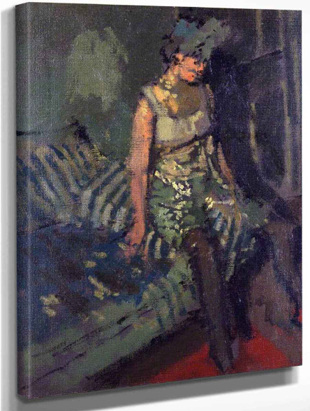 A Dancer In A Green Dress, Marie By Walter Richard Sickert By Walter Richard Sickert