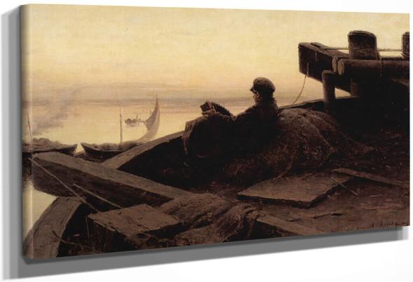 On The Volga By Abram Efimovich Arkhipov
