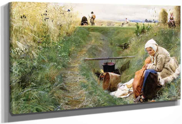 Our Daily Bread By Carl Larsson