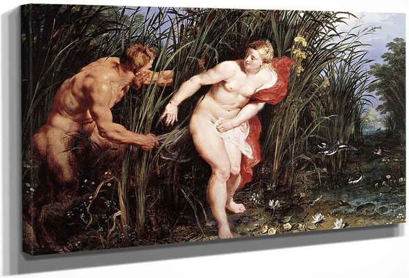 Pan And Syrinx By Peter Paul Rubens