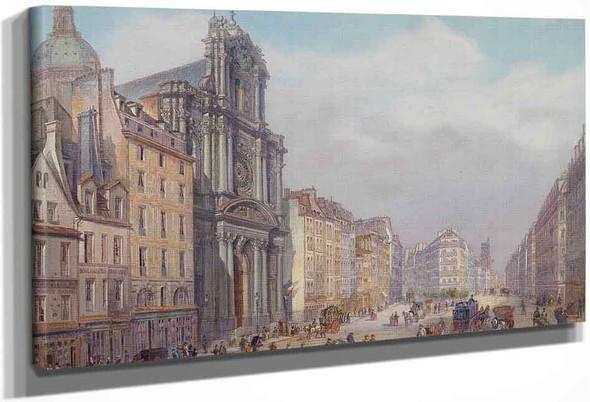 Paris, Rue Saint Antoine By Carlo Bossoli