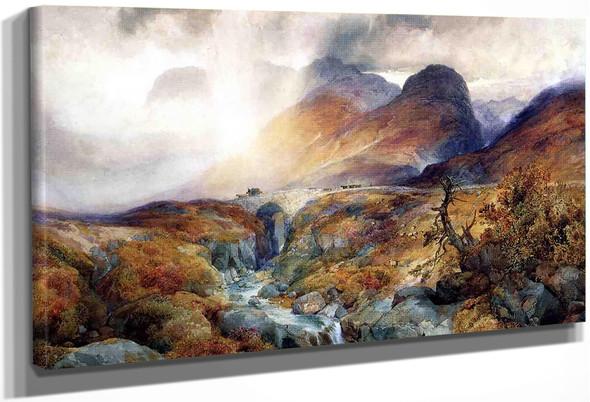 Pass At Glencoe, Scotland By Thomas Moran