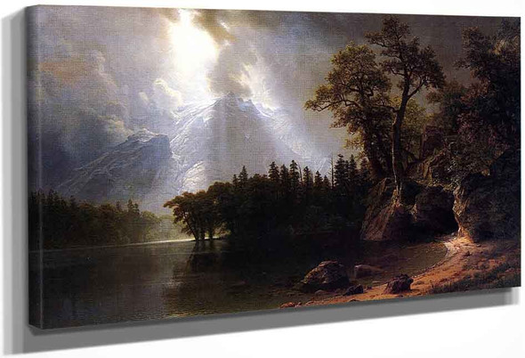 Passing Storm Over The Sierra Nevada By Albert Bierstadt