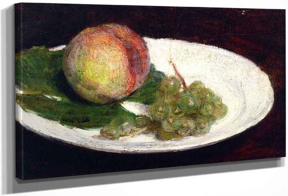 Peach And White Grapes By Henri Fantin Latour By Henri Fantin Latour