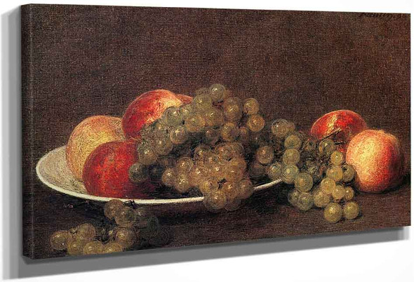 Peaches And Grapes By Henri Fantin Latour By Henri Fantin Latour