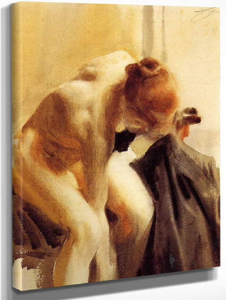 A Female Nude By Anders Zorn