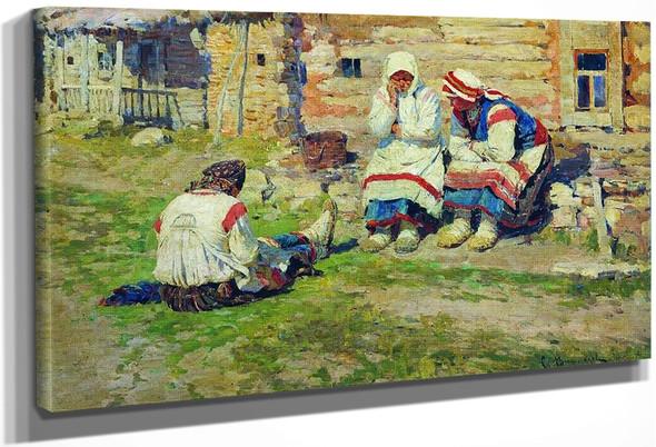 Peasant Women By Sergei Arsenevich Vinogradov Russian 1869 1938
