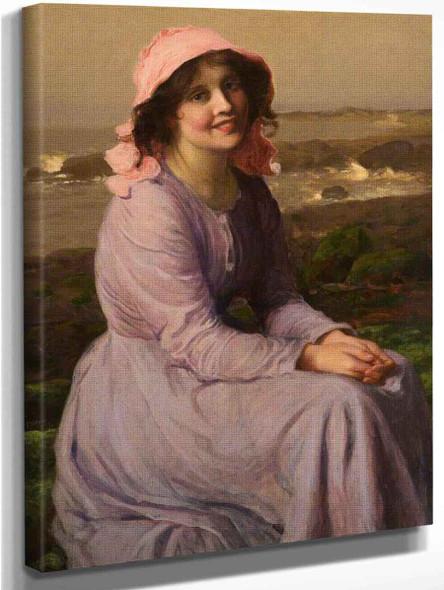A Fisherman's Daughter By Thomas Edwin Mostyn Art Reproduction