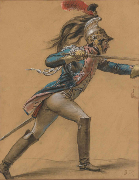 A French Dragoon, Study For ''The Revolt Of Cairo'' By Anne Louis Girodet De Roussy Trioson