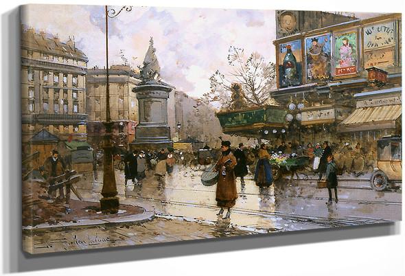 Place De Clichy By Eugene Galien Laloue