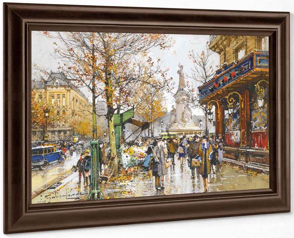 Place De La Republique by Eugene Galien Laloue