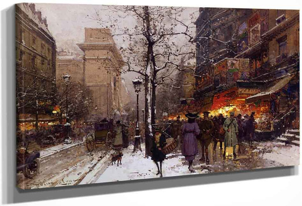 Porte Saint Denis By Eugene Galien Laloue