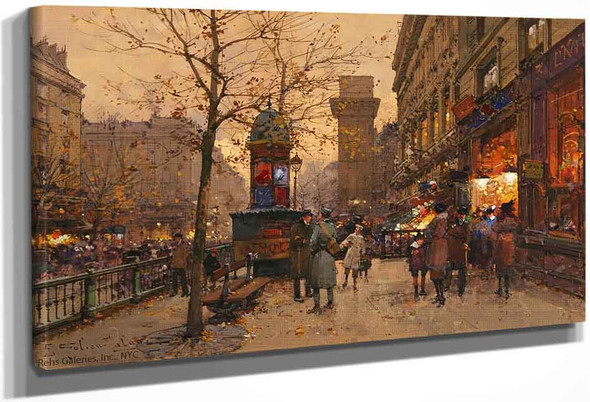 Porte St. Martin By Eugene Galien Laloue