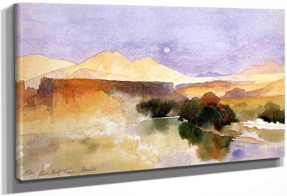 Portneuf Canyon, Idaho By Thomas Moran