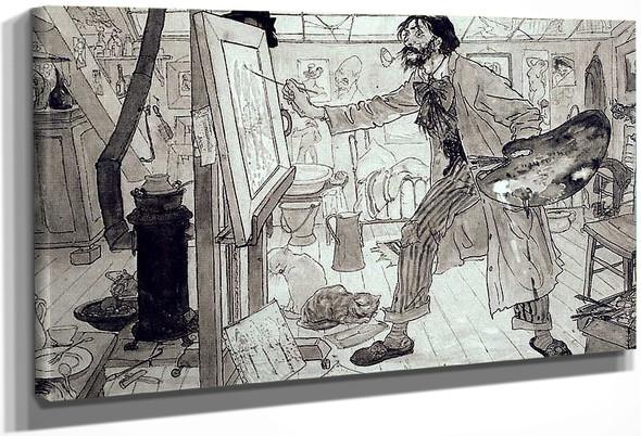Portrait Of Sluyters At Work By Leo Gestel
